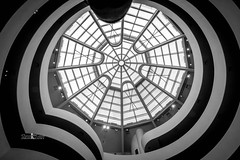 Glass Ceiling (DPH Photography) Tags: bw ceiling interior architecture guggenheim museum design new york