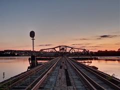 Swing Mary swing (photography_isn't_terrorism) Tags: wm wmry bridge baltimore hdr bw evening twilight