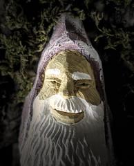 Made of Wood . . . (JLS Photography - Alaska) Tags: macromondays macro macroshot handcarved jlsphotographyalaska wood madeofwood figure head face light laughing funny carving