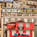 Vibrant buildings facades in São Paulo district of Lisbon