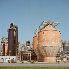 The Mill I (MFBodisch) Tags: georgia pacific leaf river cellulose plant new augusta mississippi usa paper mill southern commerce timber industry ricoh diacordg kodak portra
