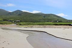 Ireland Beach (Circled Thrice) Tags: ireland irish beach castlegregory countykerry kerry atlantic ocean tralleebay bay water sand green hills canon eos rebel t3i sigma creek landscape