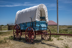 Covered Wagon at the Oregon Trail Museum in Casper, WY (firstfire53) Tags: wyoming casper coveredwagon oregontrailmuseum