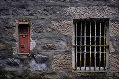 Post box - Dailuaine (Paul Perton) Tags: dailuaine fuji scotland xh1 bars distillery postbox red wall window