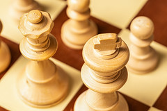 Chess (FotoCorn) Tags: wood square boardgame chesspiece strategy wooden chessboard chess pieces macromondays play happymacromonday happymacromondays macromonday madeofwood piece macro king white queen hmm2019 sport hmm pawn game strategic figure