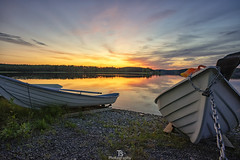 Lapatonniemi II (Taavi Salakka) Tags: lappeenranta lake landscape boat rowboat chain water waterscape sunset dusk beach strand sun reflection reflect nature landscapes sky suomi summer view sony a7 canon 1740mm