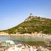 Beach of the Tower of Porto Giunco (Spiaggia di Porto Giunco) in Sardinia, Italy