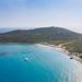 The rocky beach of Capo Carbonara in Sardinia, Italy