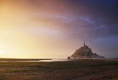 Le Mont Saint Michel Sunset (Bernd Schunack) Tags: mont saint michel sunset france bretagne normandie fantastic light silhouettes bridge perspective water sea sky clouds rain panasonic lumix gx9