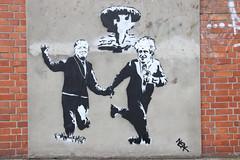 New street art (Elbmaedchen) Tags: streetart hamburg neal urbanshit grafitti tag stencil urbanism streetartists strasenkunst schablonengrafitto