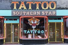 Southern Star Tattoo Parlor (DayBreak.Images) Tags: urban city atlanta georgia l5p tattoo parlor canondslr canoneflens lightroom
