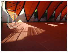 ] O R A N G E [ (michelle@c) Tags: city urban orange cityscape urbanscape 2019 parisxii ©michellecourteau architecture ground structure textile cover enclosed sportcourt shadow contemporan tennis bcarchitectes