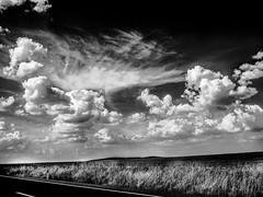 FlatLine.jpg (Klaus Ressmann) Tags: klaus ressmann omd em1 autumn eavila landscape sky blackandwhite clouds contrast design flcnat road klausressmann omdem1