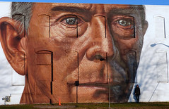 Reflecting Lafayette's locomotive history (wwimble) Tags: wabashwalls mural lafayette becky theconductor cobre andrescobre