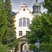 Kloster Ettal (45) - Blick  von der Ortsmitte auf den Klostereingang