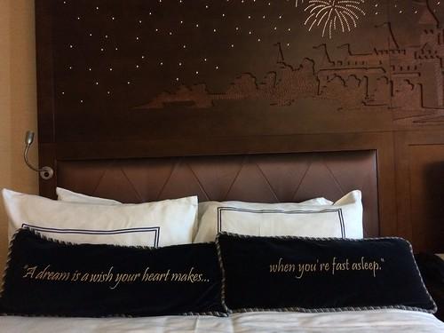 Disneyland Hotel Pillows and Headboard