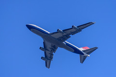 Negus Approach (sbisson) Tags: ba retrojet b747 boeing britishairways negus ba100 red white blue putney london sky airliner summer