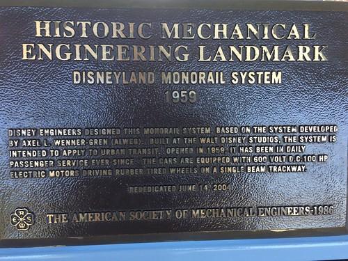 Monorail Plaque