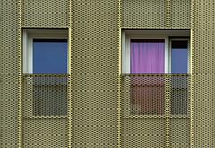 Colour play (jefvandenhoute) Tags: belgium belgië brussels brussel light shapes geometric molenbeek windows wall