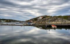 A Marstrand Marina (henriksundholm.com) Tags: landscape nature coast marina clouds sky bohuslän marstrand marstrandsön kungälv boat reflections shadows ripples sverige sweden hdr koön island