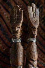 Made of Wood - HMM! (suzanne~) Tags: macromondays madeofwood handle saladspoon saladfork carved african macro