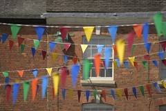 Bunting (Tony Tooth) Tags: nikon d600 sigma 50500mm bunting triangles cheadle staffs staffordshire street