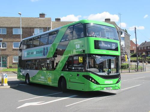 Nottingham city Transport - Lime line 58 - 493 - a photo on Flickriver