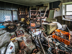 Loom and machinery - Lewis Croft (Craig Hannah) Tags: derelict croft farmhouse abandoned neglected decay derelictbuilding isleoflewis lewis outerhebrides scotland craighannah weaverscroft canon islands july 2019 photography weavingloom weaving machinery