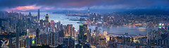 The Pearl of the Orient (DanielKHC) Tags: hongkong cityscape panorama nikon z7 sunset blue hour digital blending skyscrapers