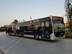 NLD Qbuzz 3096 ● Delfzijl Station (Roderik-D) Tags: qbuzz30963097 3096 qlink6 bxsx99 delfzijlstation 646165 2010 dieselbus euro5 mercedesbenz citaro2 o530g capacity45961 savas bege geledebus articulatedbus gelenkbus citybus stadtbus 3axle 3doors ivu gorba
