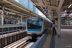 Tokyo (Jan Dreesen) Tags: japan japon tokyo tokio chiyoda city marunouchi district central train station jr east railways keihintohoku line emu e233 series conductor contucteur departure signal