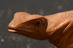 Velociraptor (Clint__Budd) Tags: macromondays madeofwood frog carved woodfungus velociraptor