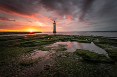 New Brighton Summer Sunset (Rob Pitt) Tags: new brighton lighthouse wirral sunset glow pink fire water rock pool mersey merseyside summer july sony a7rii canon 1740 f4 l