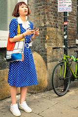 Mondrian Music (Sean Batten) Tags: london england unitedkingdom bricklane eastlondon shoreditch person candid mondrian bike pavement streetphotography street fuji fujifilm x100f music