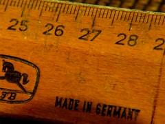 """Those were the days""....... Old school ruler (Bernhard Paul) Tags: macromondays oldschoolruler 1960 weeks theme ""made wood"""