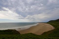 Rhossili Bay in Wales (jimx9999) Tags: gower rhossili wales uk beach strand coast küste meer ocean clouds wolken