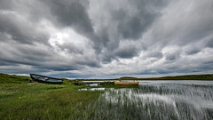 Boats on Loch Raoinebhat, Isle of Lewis (Craig Hannah) Tags: isleoflewis lewis outerhebrides scotland loch clouds craighannah storm july 2019 landscape beautifulworld canon photography photos westcoast uk reflection summer roadtrip boats fishing