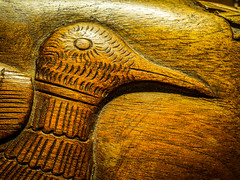 Relief of Bird Carved in Wood (oldhiker111) Tags: macromondays madeofwood