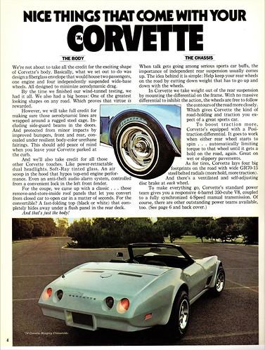 1974 Chevrolet Corvette Standard Features