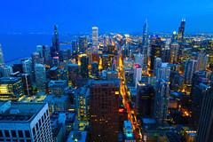 Blue Chicago (dangaken) Tags: chicago chicagoil il illinois chi summer city urban chitown cityofbroadshoulders fuji fujifilm fujixt2 northmichiganave northmichiganavenue michiganavenue johnhancockbuilding johnhancock hancock 875northmichiganavenue johnhancockcenter skyscraper dusk sunset chicagoskyline view cityview bluehour 360chicago brucegraham fazlurrahmankhan fazlurkhan fujixmount fujixsystem fujifilmxsystem fujix fujifilmx