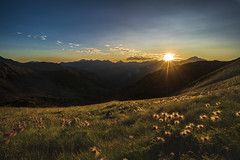 Sorteny Valley, Andorra (StarCitizen) Tags: andorra landscape sunset gradient sky mountains flowers foliage evening pyrenees