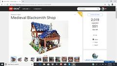 Medieval Blacksmith Shop on LEGO Ideas (ben_pitchford) Tags: legoideas legomoc legocastle legoaddict legofan afol medieval medievalblacksmithshop brickworld brickcommunity