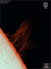 Huge Solar Prominence - July 29, 2019 (The Dark Side Observatory) Tags: tomwildoner solar sun space outerspace skywatcher telescope 120ed celestron cgemdx asi290mc zwo astronomy astronomer science weatherly pennsylvania observatory darksideobservatory star tdsobservatory earthskyscience daystar quark chromosphere prominence sunspot july 2019
