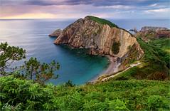 Playa del Silencio, Asturias, Spain (AdelheidS Photography) Tags: adelheidsphotography adelheidsmitt adelheidspictures spain sunset scenery asturias españa spanje beach shoreline landscape