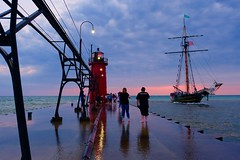 South Haven, MI [Explored] (dangaken) Tags: southhaven lighthouse beach shore lake greatlakes lakemichigan mi michigan mich sunset dusk westside freshcoast puremichigan bluehour shoreline water waterfront red boat tallship pirateship pier fuji fujifilm fujixmount fujixsystem fujifilmxsystem fujix fujifilmx inexplore explore explored xf1655mmf28rlmwr fujixf1655mmf28rlmwr fujinonxf1655mmf28rlmwr fujifilmxf1655mmf28rlmwr fujixf1655mmf28r