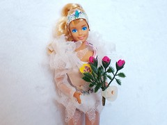 Skating Star Barbie #4547 from 1987 (VintageZealot) Tags: barbie mattel skating star 4547 1987 dream 4550 sears exclusive canada canadian olympic skater 1988 calgary winter games 80s 1980s vintage retro fashion doll clothing clothes outfit model modelling superstar super blonde caucasian white china plastic snaps skates bodysuit body suit leggings nylons stockings sheer sleeves lace frilly headband tiara jewel belt jewelry earrings ring diamond rhinestone crystal flower bouquet green pink fuchsia blue yellow purple shiny cream beige grey tights pantyhose tutu hat foreign