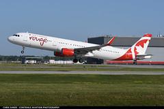 Air Canada Rouge A321 CGHQI (Sandsman83) Tags: montreal cyul yul airplane aircraft plane air canada rouge takeoff cghqi