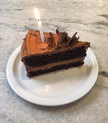 Birthday Chocolate Cake at Gjusta - Venice Beach, California