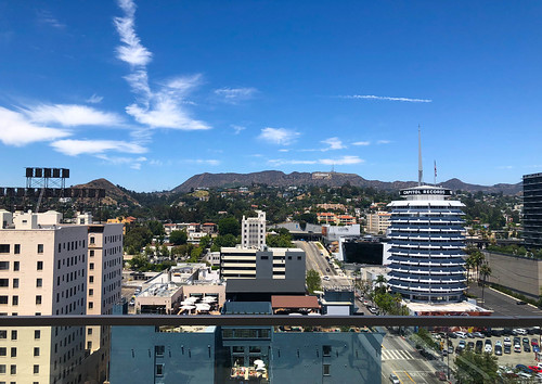 Capitol Records Building from the Broadway Hollywood Building - Hollywood, CA