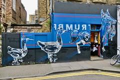 Follow the Leader, London, UK (Robby Virus) Tags: street uk greatbritain england brick london art glass animals mural artist unitedkingdom britain follow lane gb leader trump pence fanakapan